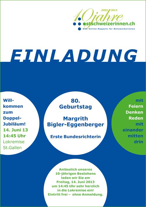 ostschweizerinnen.ch - vernetzungsplattform - online-magazin f r, Einladung